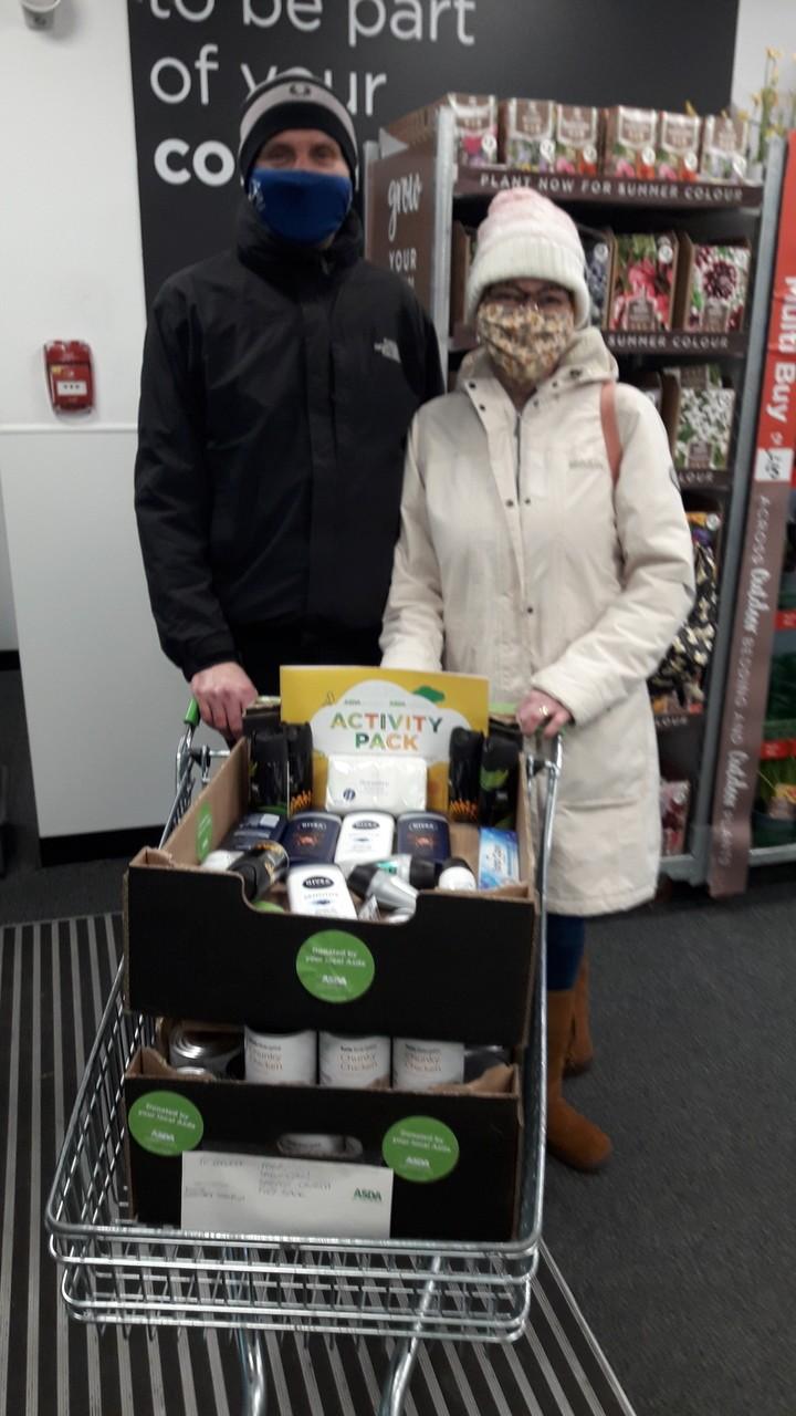 Food bank support during Lockdown 3 | Asda Darlington