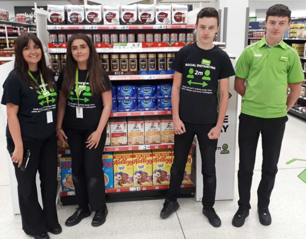 Asda Boston twins Lauren and Charlotte Wisker and Jay and Callum Troop