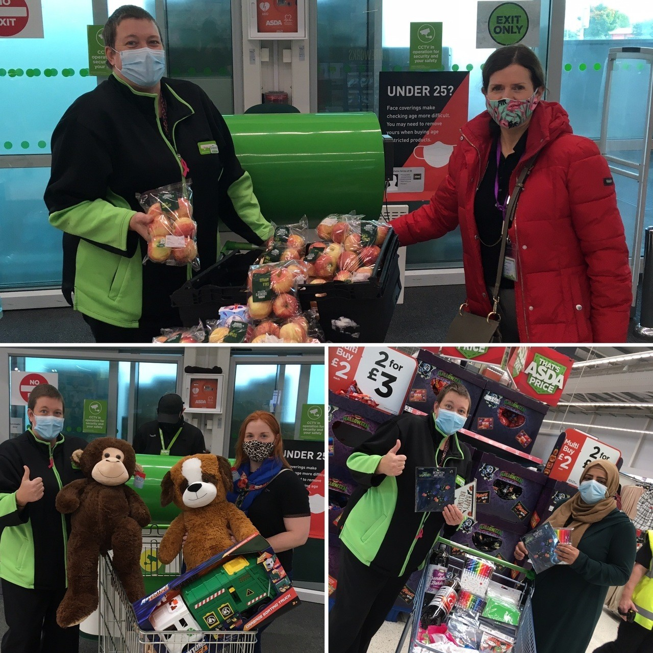 Local groups receive donations of food and some treats | Asda Keighley