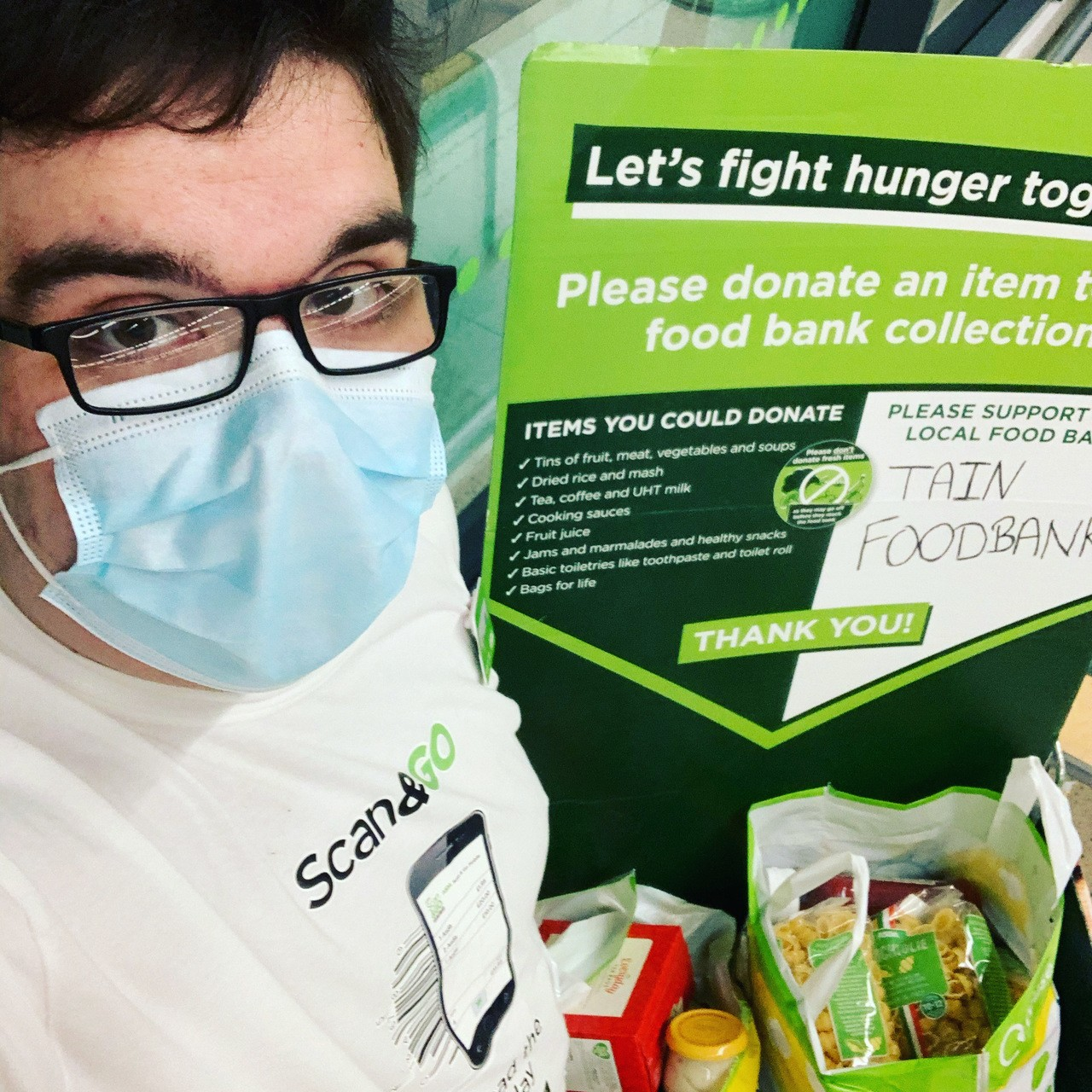Donations for Tain Foodbank | Asda Tain