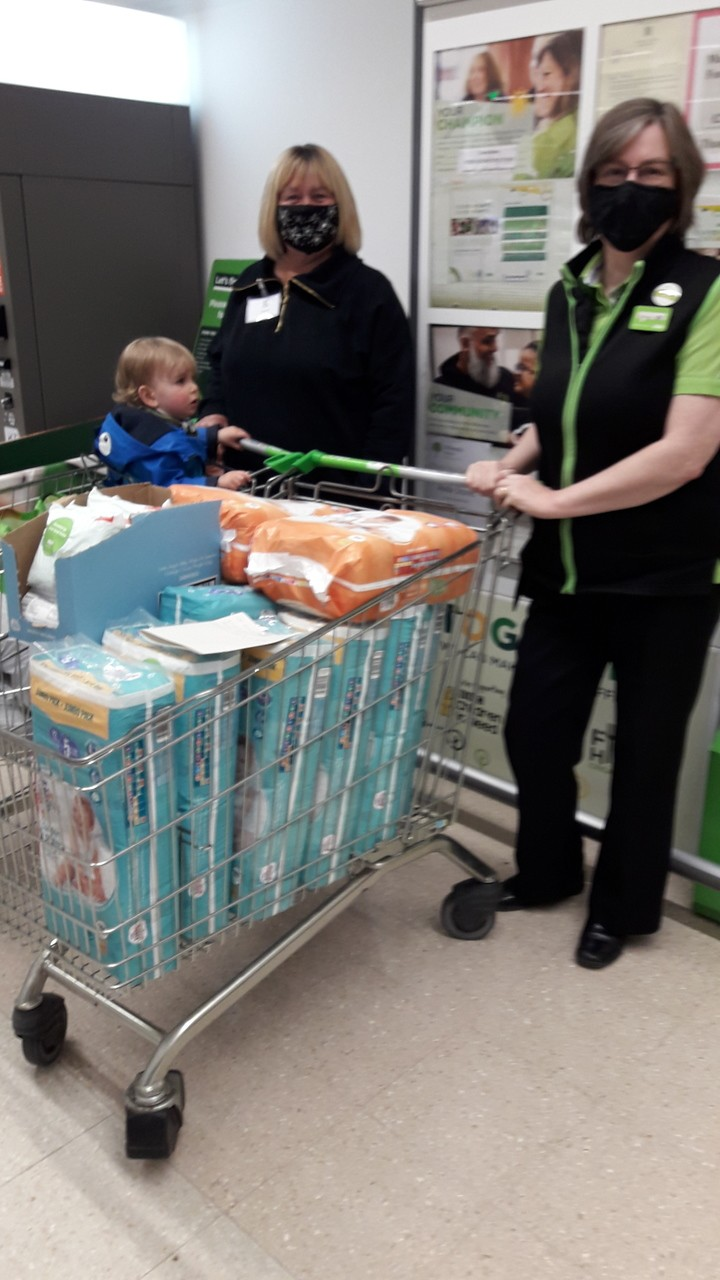 Store Top Up Donation to our Fight Hunger Create Change trolley | Asda Darlington