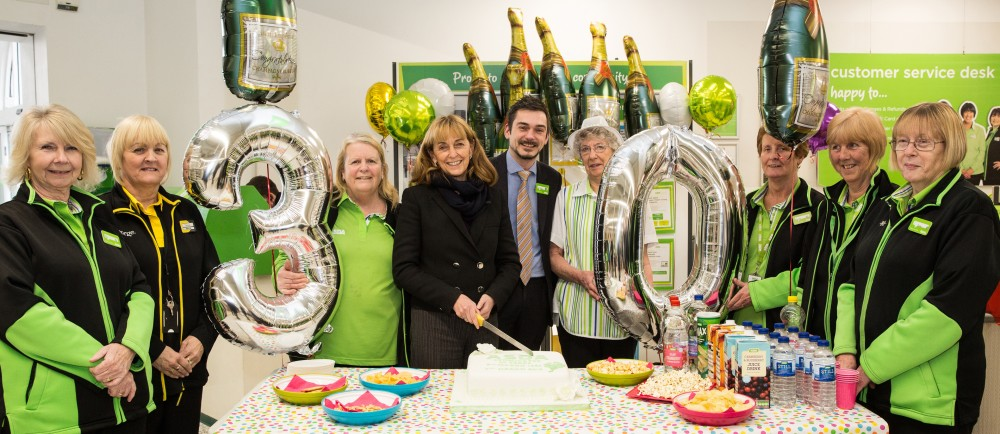 Long serving colleagues celebrate Asda Bedminster's 30th birthday