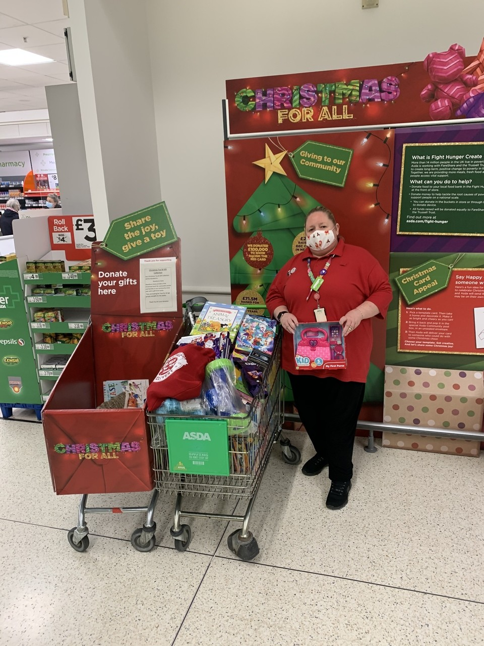 Toy appeal thanks | Asda Dewsbury