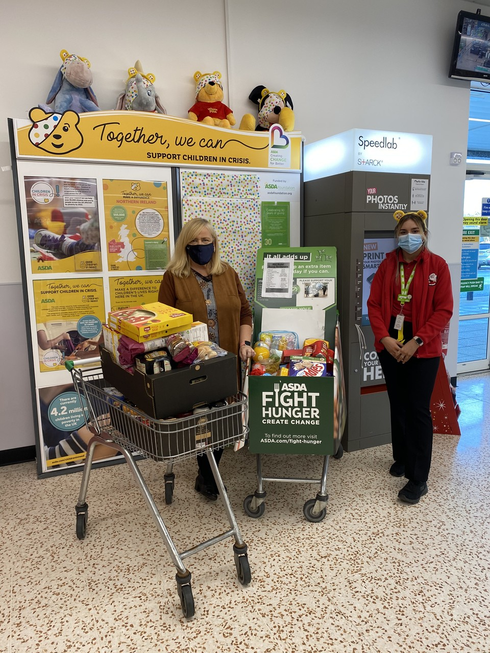 Holy Trinity College donation of gluten free food | Asda Cookstown