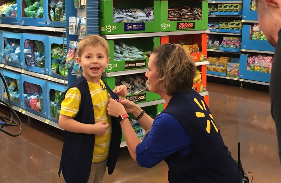 Young associate Will with Walmart manager