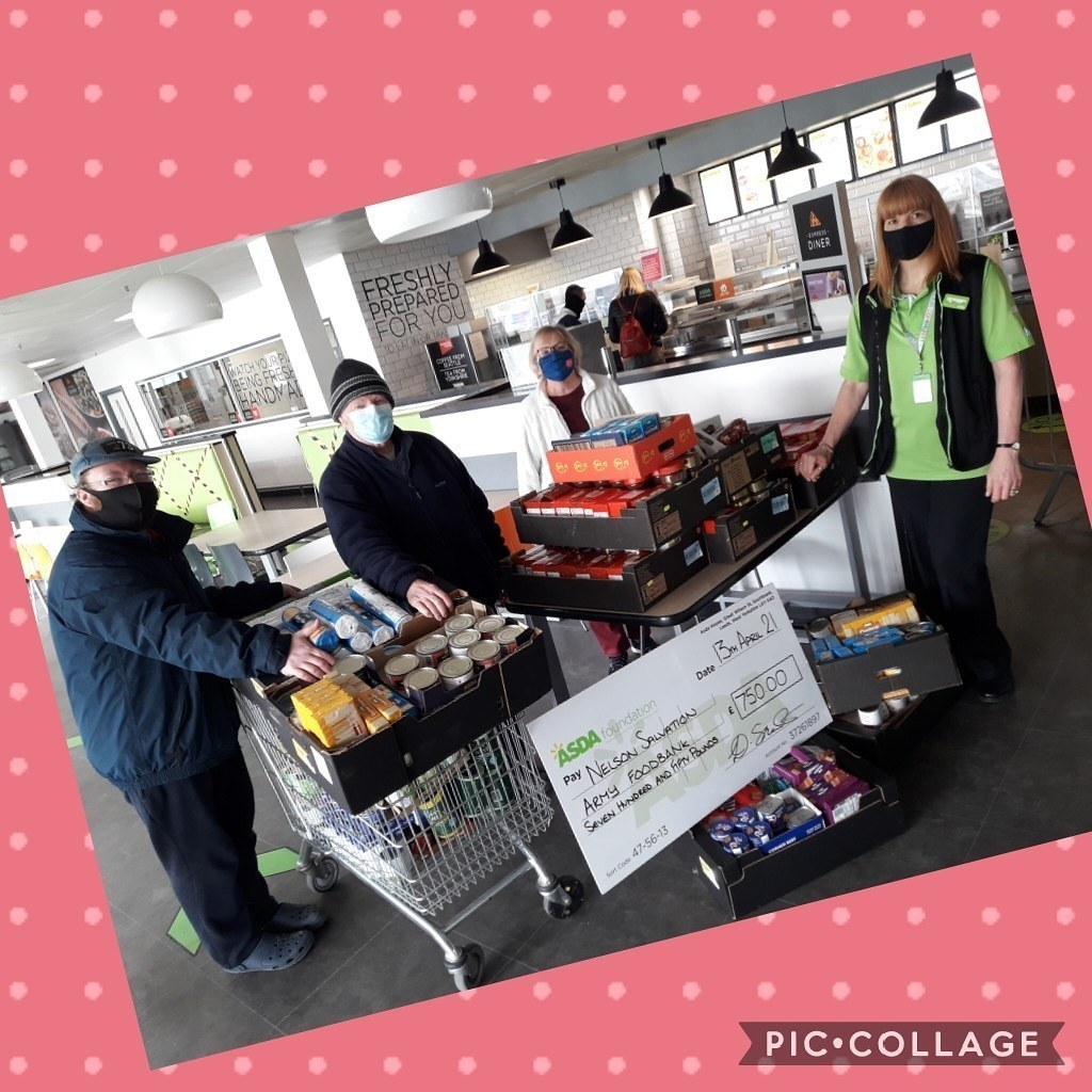 ASDA FOUNDATION GRANTNELSON SALVATION ARMY FOODBANK£750 worth of food given to our commmunity | Asda Colne