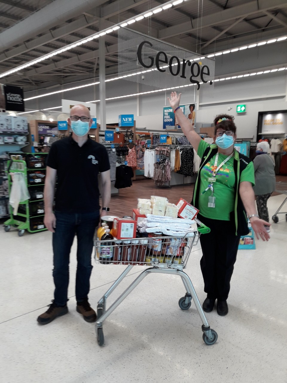 Bethany Christian trust getting an essential top up for their community free cafe and drop in centre. | Asda Dundee West