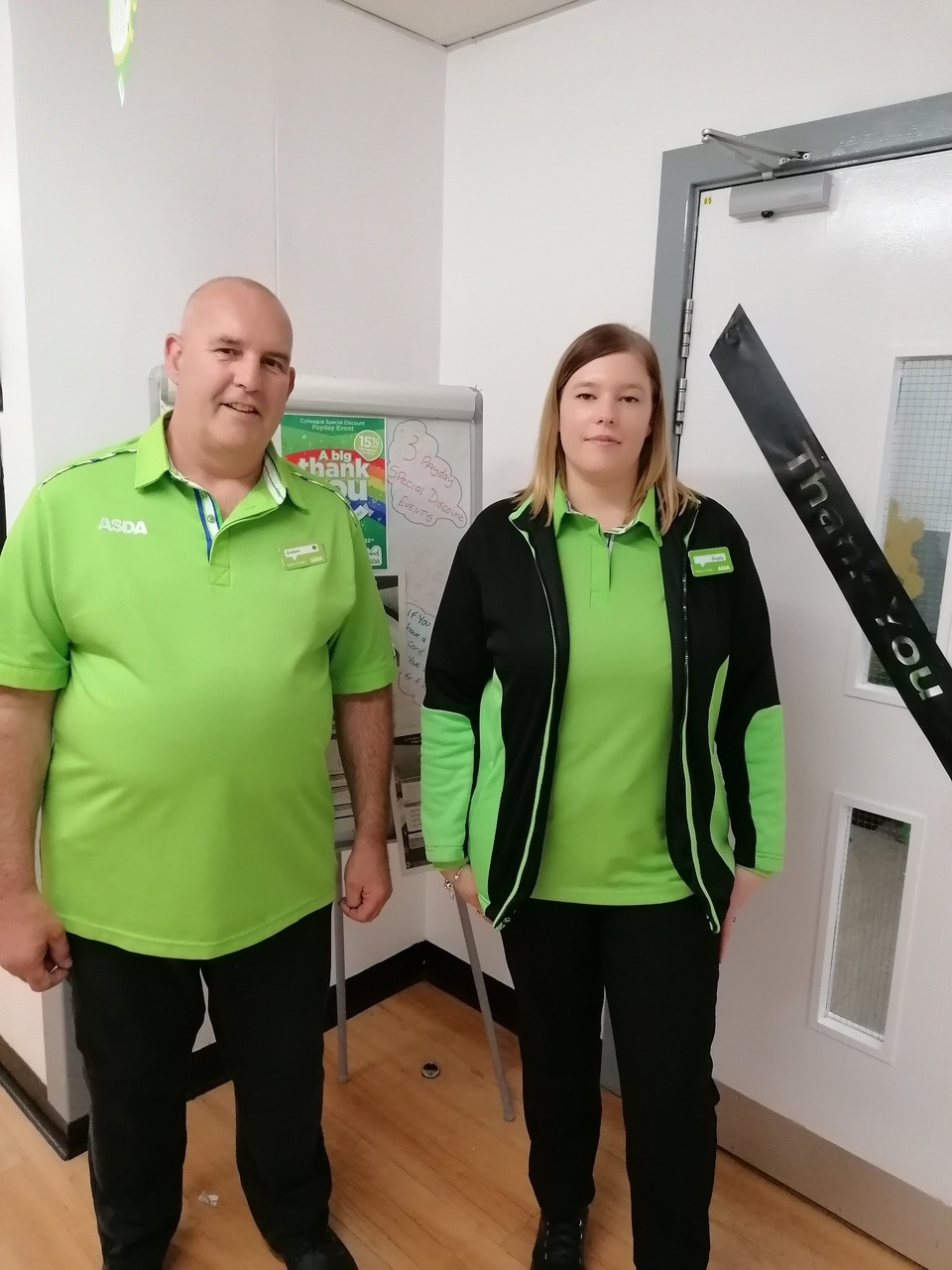 Father daughter duo at Asda Wythenshawe | Asda Wythenshawe