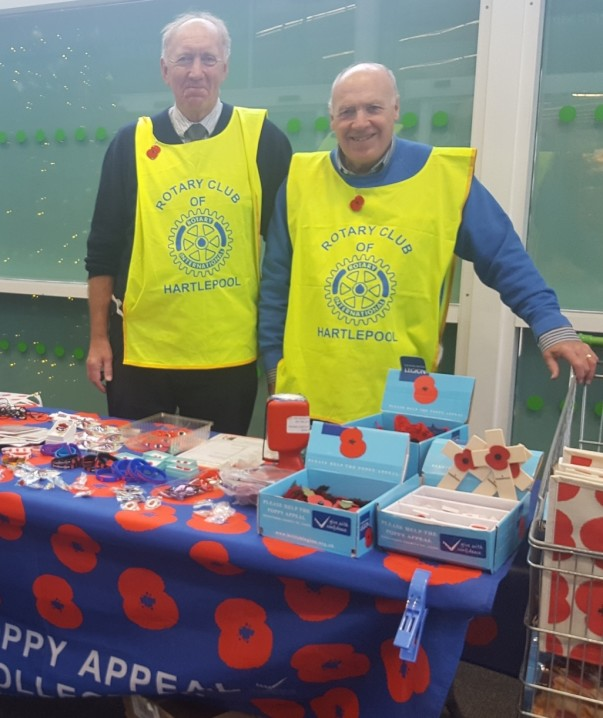 Poppy Appeal at Asda Hartlepool