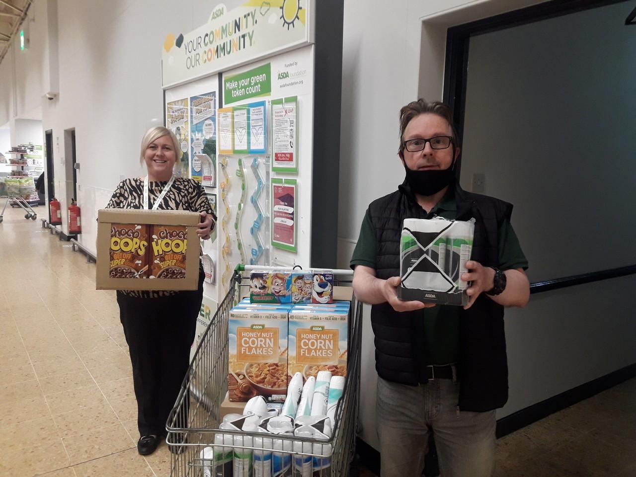 Foodbank donation | Asda Blantyre