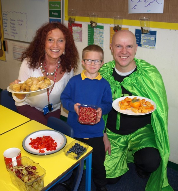 Peter Wilcox from Asda Bideford presented a healthy eating session to pupils at St Mary's School