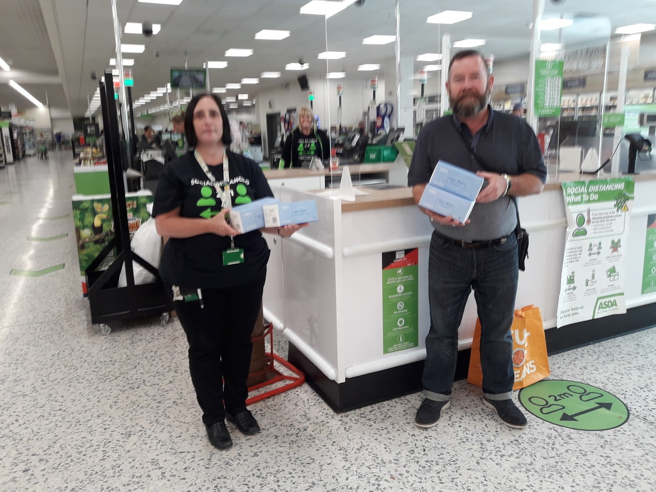 Donation of face masks | Asda Newport
