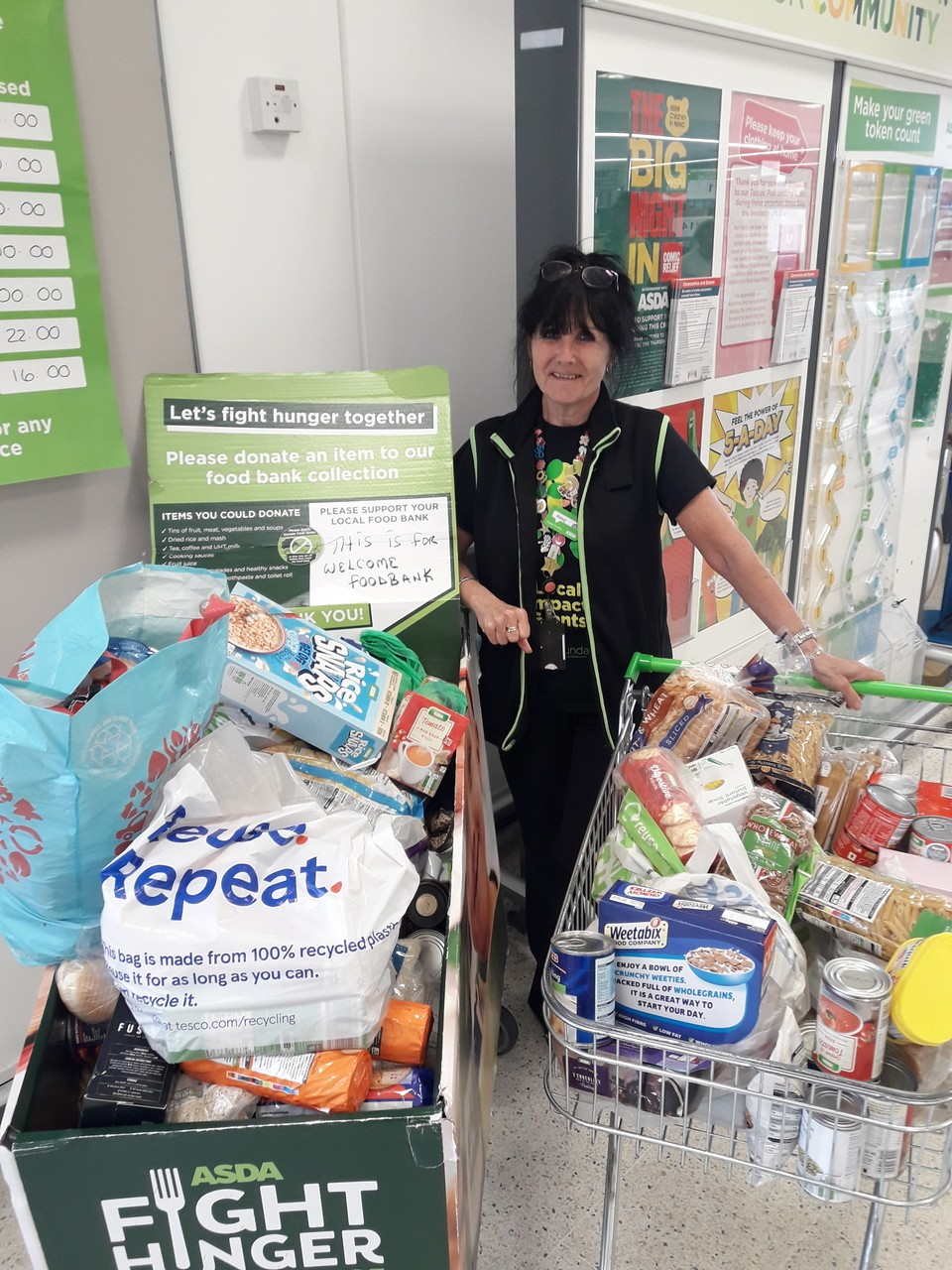 Foodbank support from generous customers | Asda Huddersfield