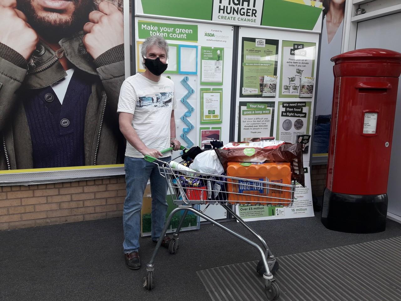 Donation to homeless charity from Asda Govan | Asda Govan