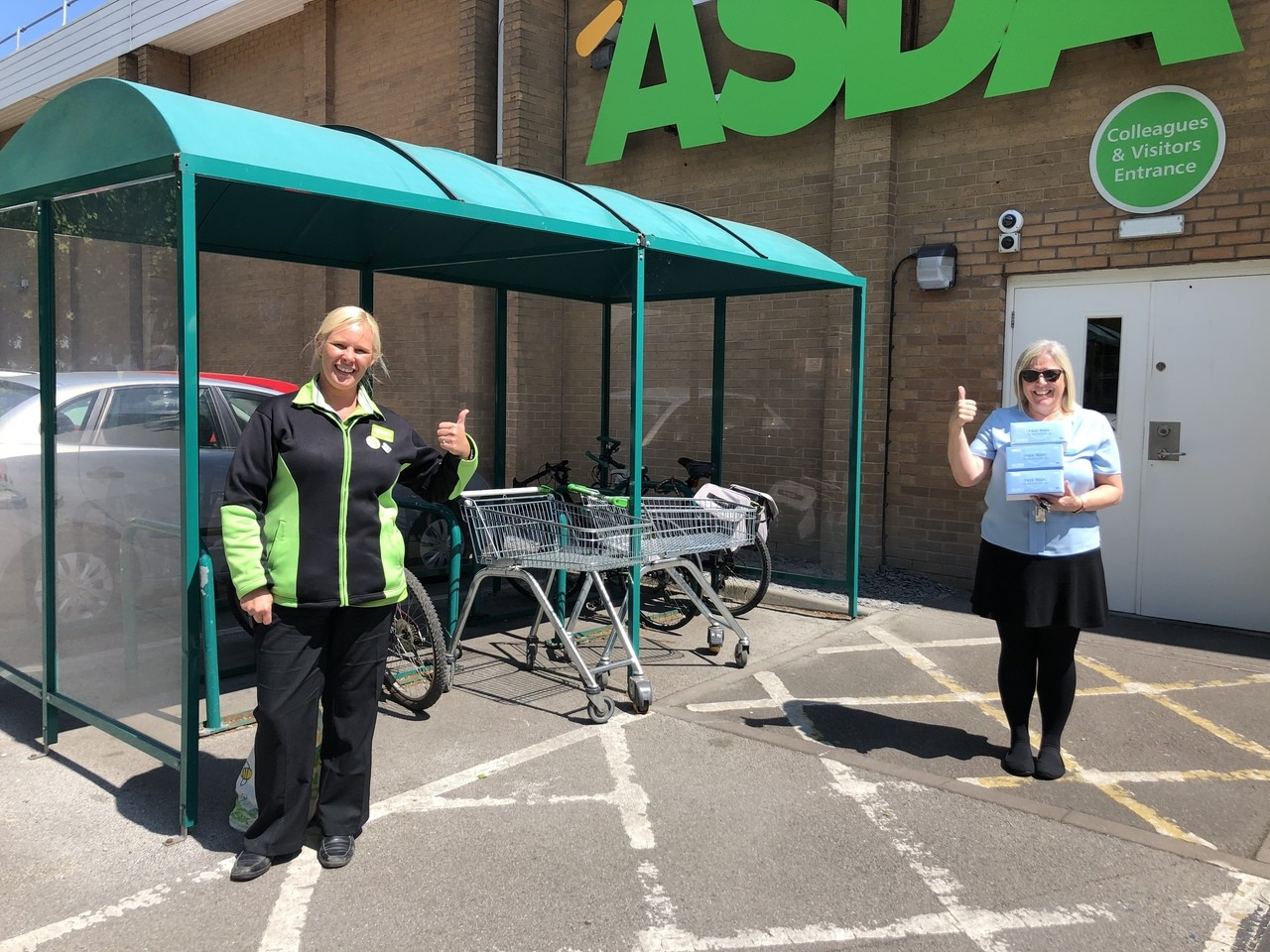 Donations of face masks to care homes  | Asda Derby