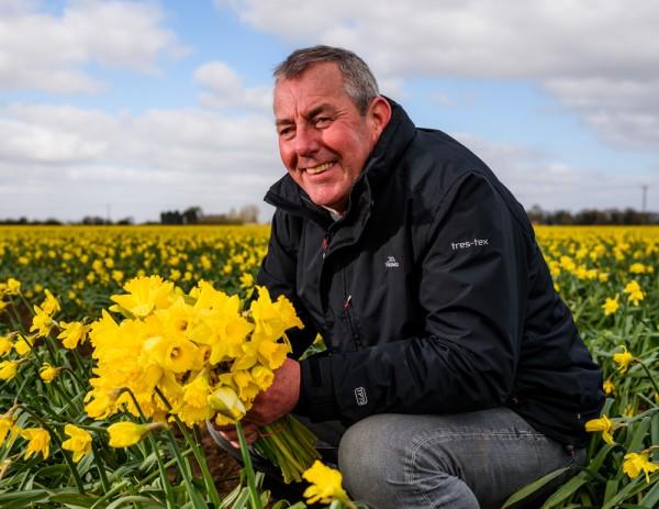 Asda daffodil grower Colin Martin