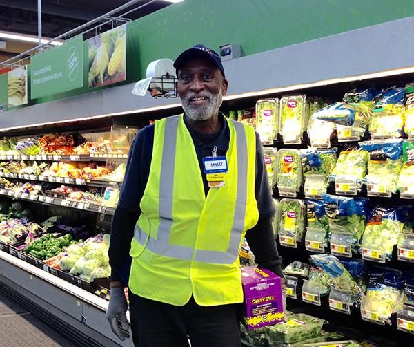 Associate Earnest Reed in Produce Area of D.C. Supercenter