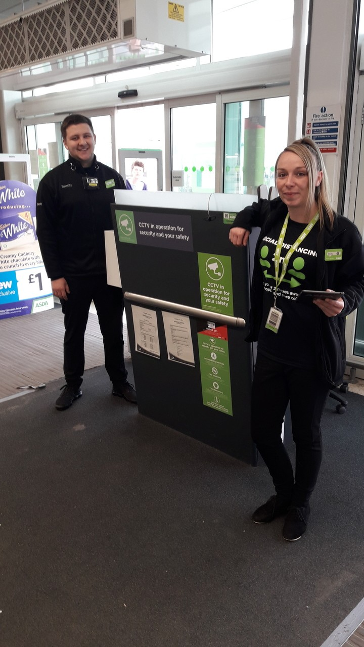 Becky and Tom are just 2 of our fantastic security guards looking after colleagues and customers at this crazy time | Asda Coventry