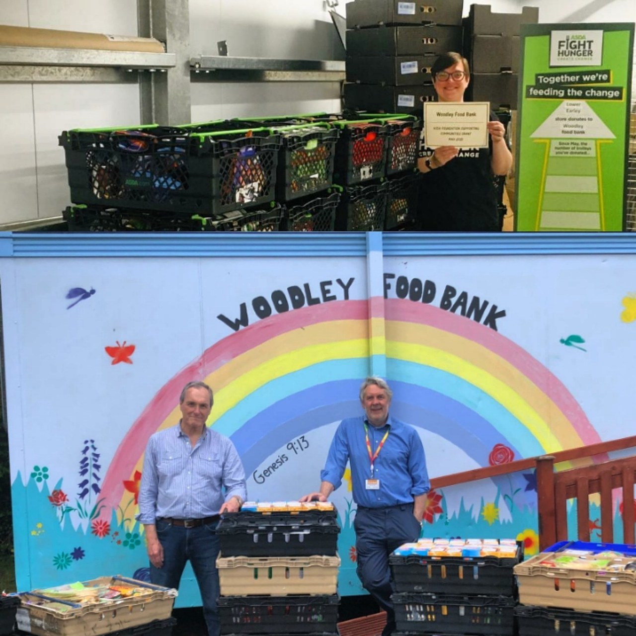 Grant for Woodley Food Bank | Asda Lower Earley