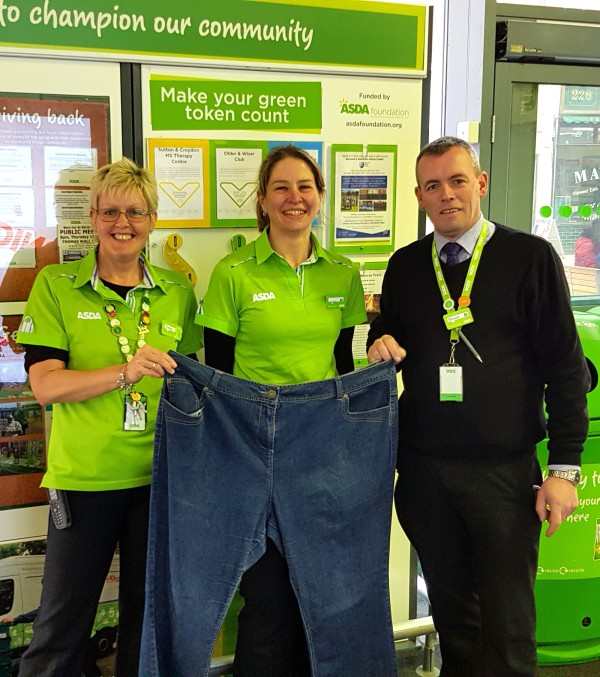 Asda Sutton colleague Amanda Wood with community champion Tracey Jacques and general store manager Stewart Choppin