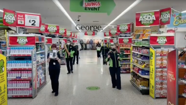 Asda Omagh colleagues perform Jerusalema dance