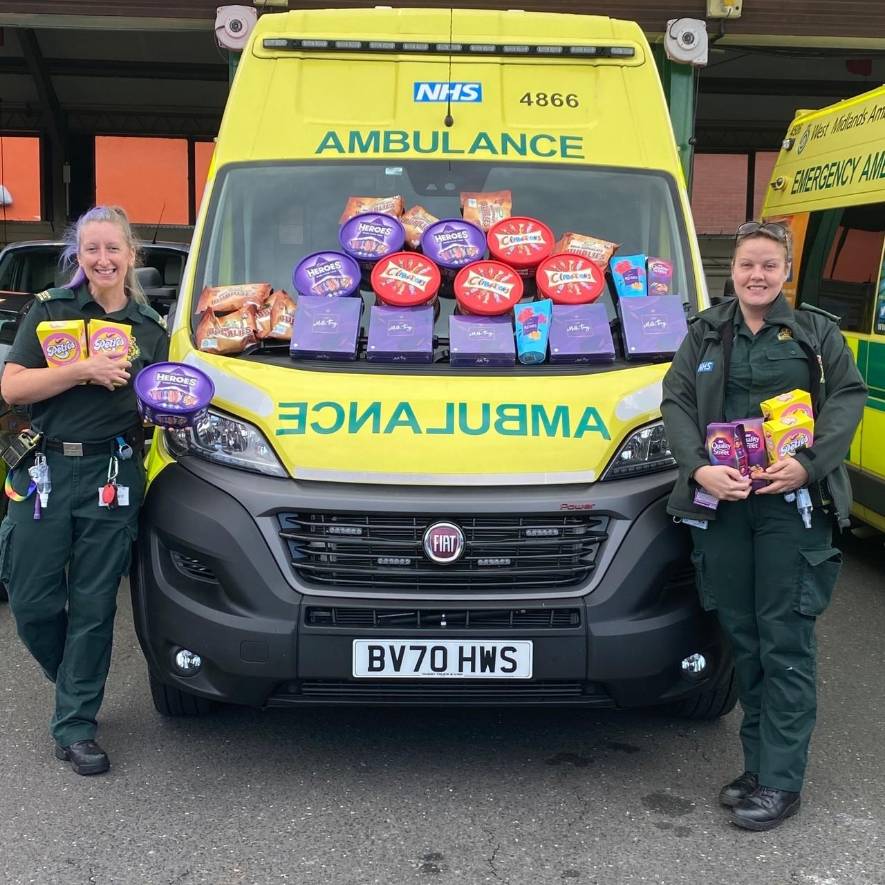 Donating to ambulance station | Asda Donnington Wood