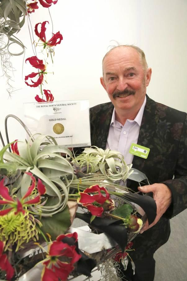 Award for John at Chelsea Flower Show