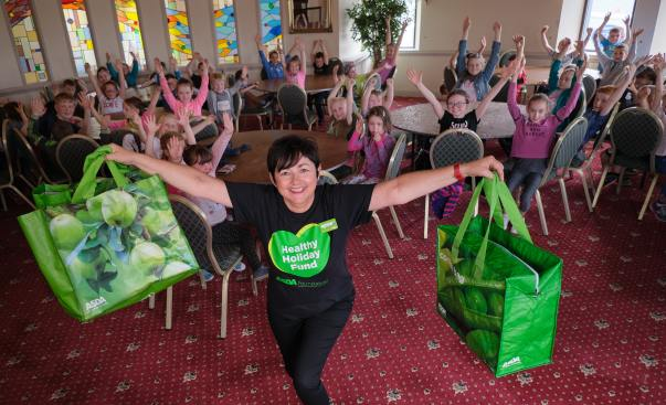 Children receive £1,000 healthy holidays donation from the Asda Foundation