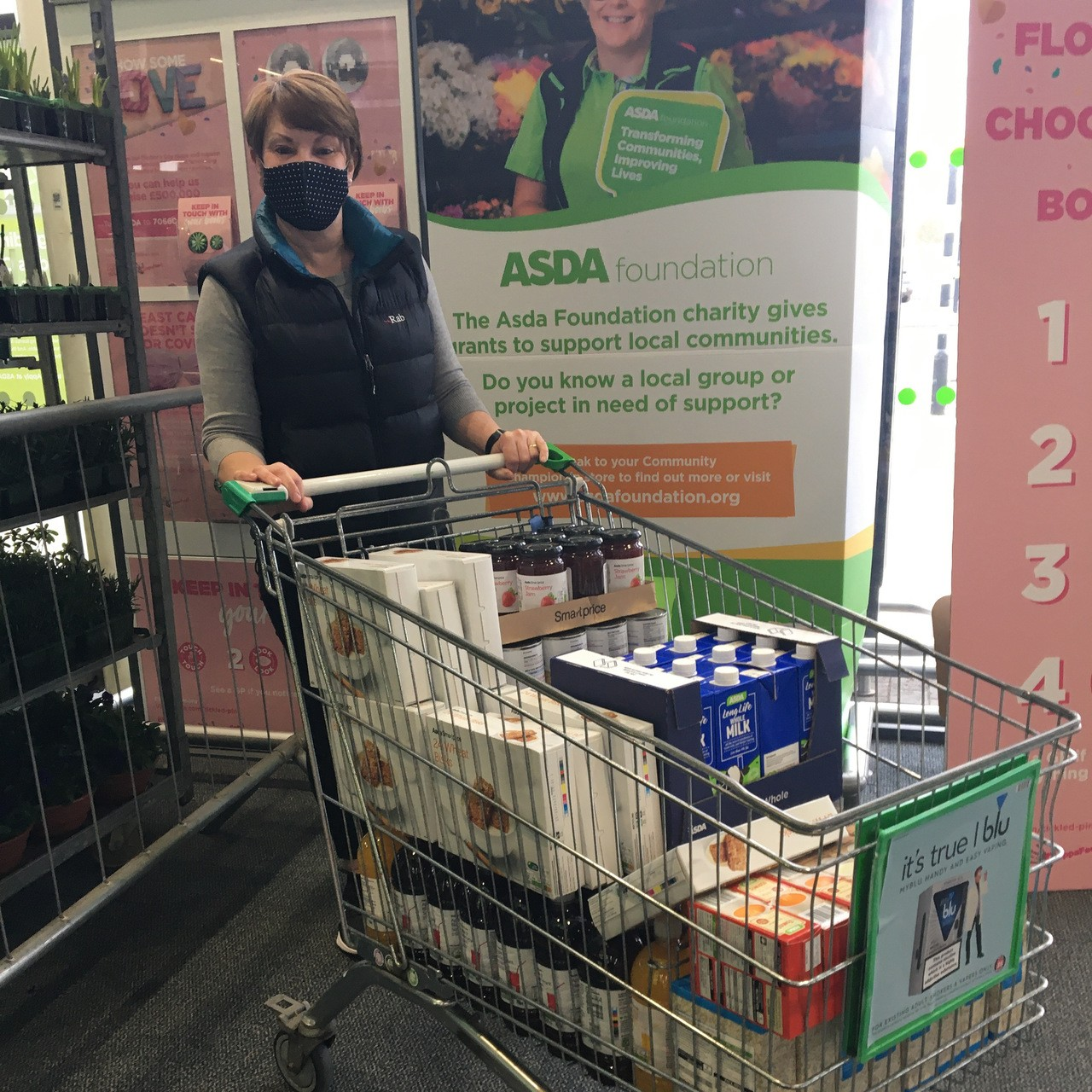 Food donation to support families throughout the Easter break | Asda Swindon Haydon