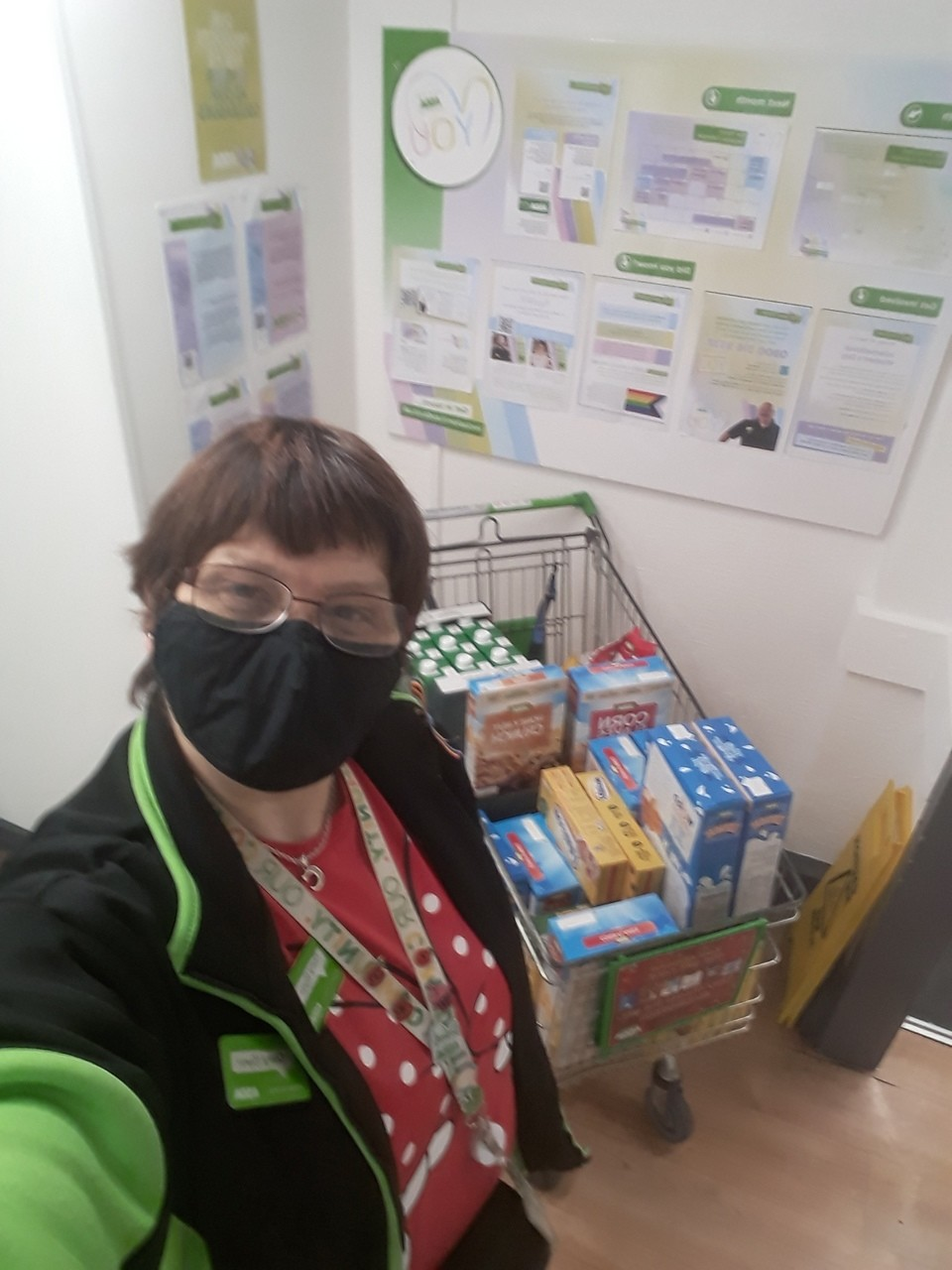 Donation to Ashton Churches Together Food Bank | Asda Golborne