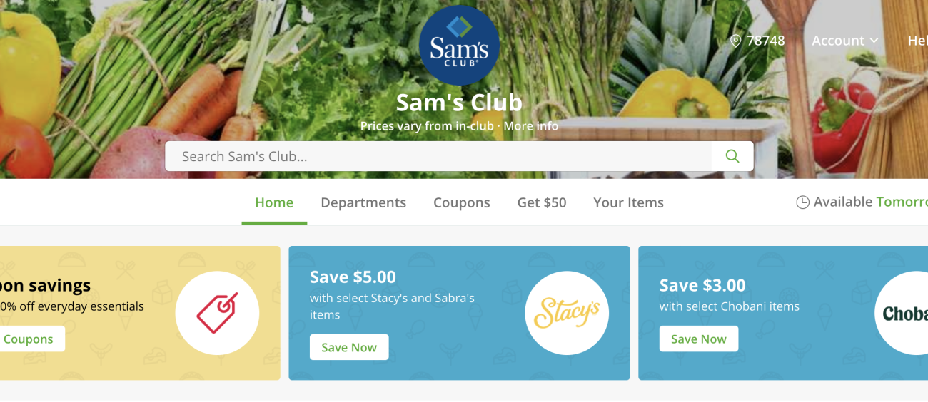 Sam's Club Expands Same-Day Delivery with Instacart to Make