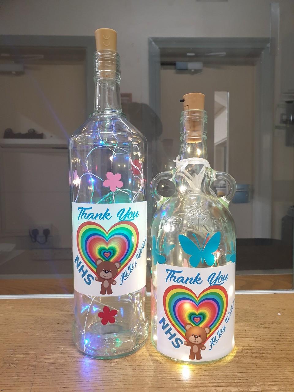 Thank you NHS decorated bottles! | Asda Killingbeck