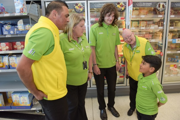 Four-year-old Huzaifah Ahmed loves Asda St Matthews