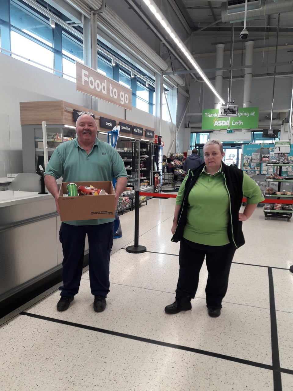 NHS donation | Asda Leith