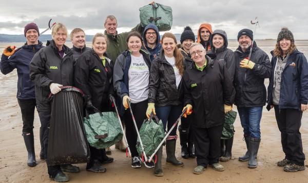 Asda colleagues help clean up West Kirby beach