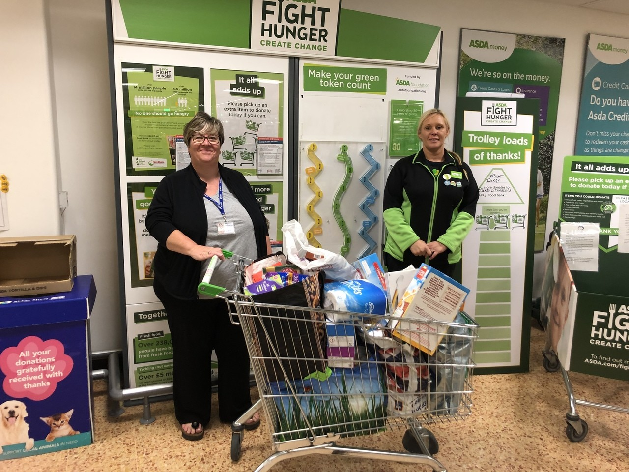Donation to food bank at Derby City Mission | Asda Derby