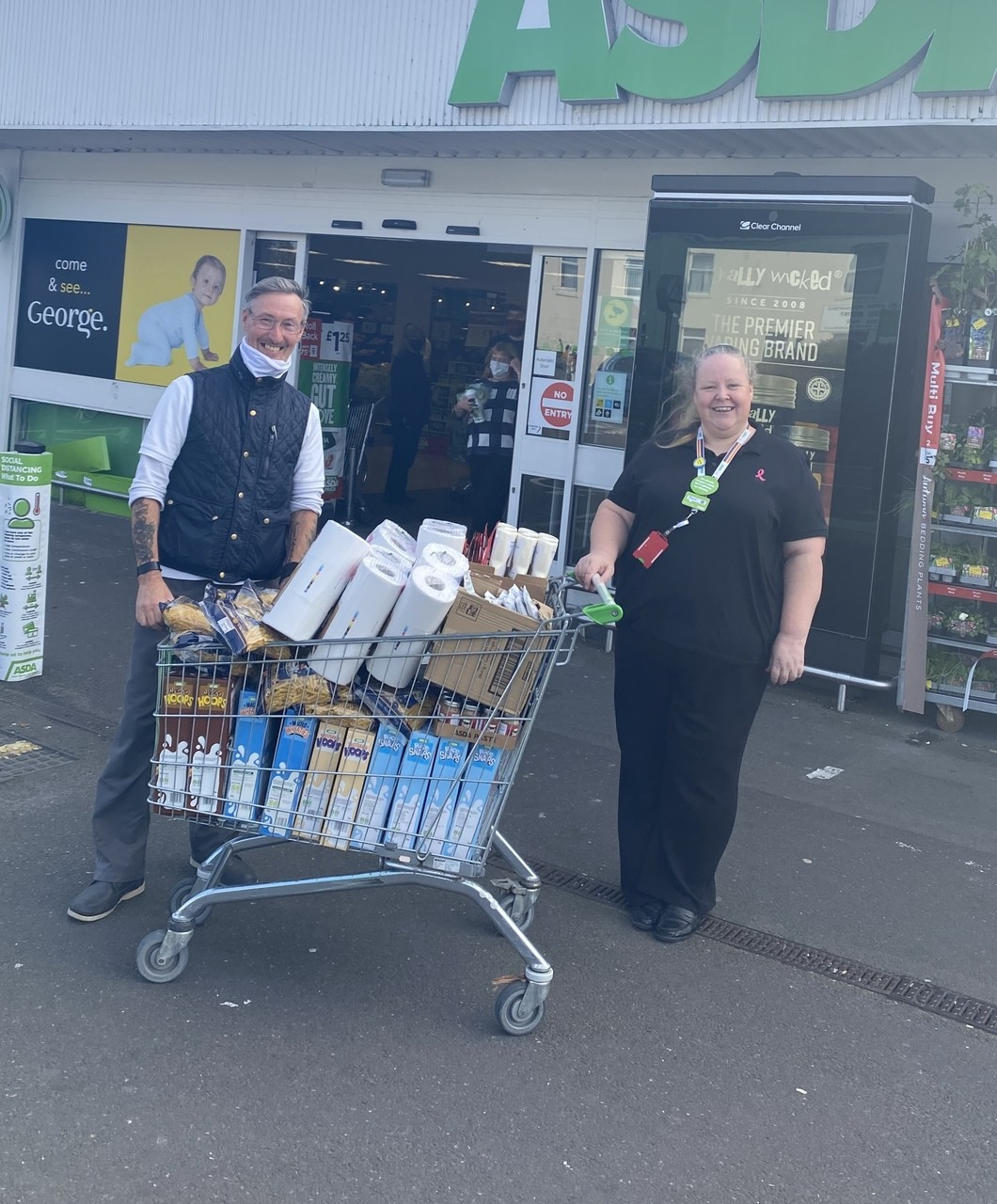 Trolley of food for Family Church Gosport | Asda Gosport