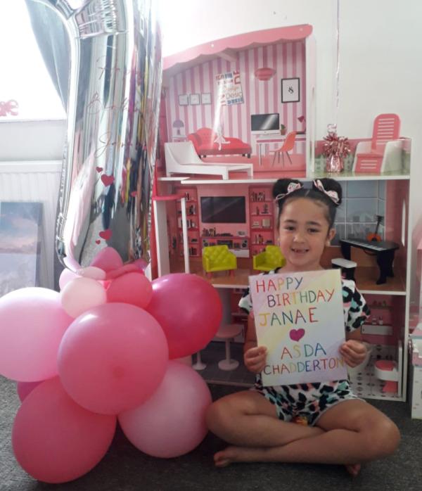 Happy birthday Janae Nolan from Asda Chadderton