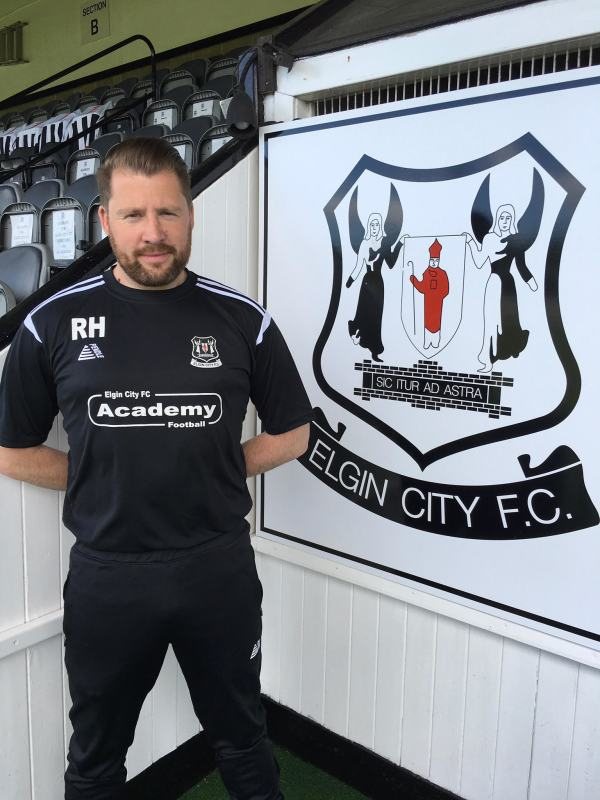 Robbie Hope at Elgin City FC where he is Academy Development Manager