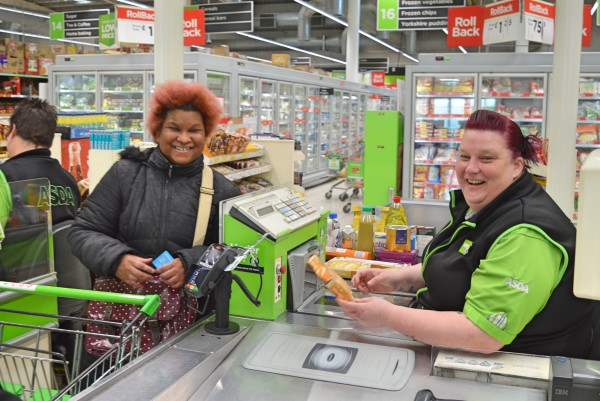 Colleagues at Asda Dewsbury go extra mile to help blind shopper Tmara