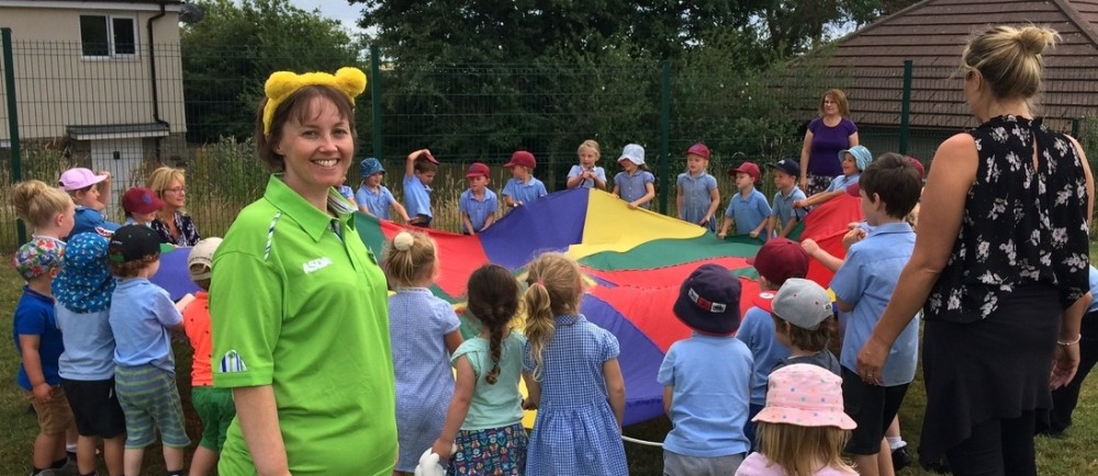 Asda Falmouth community champion Lisa Kirkpatrick at a children's party