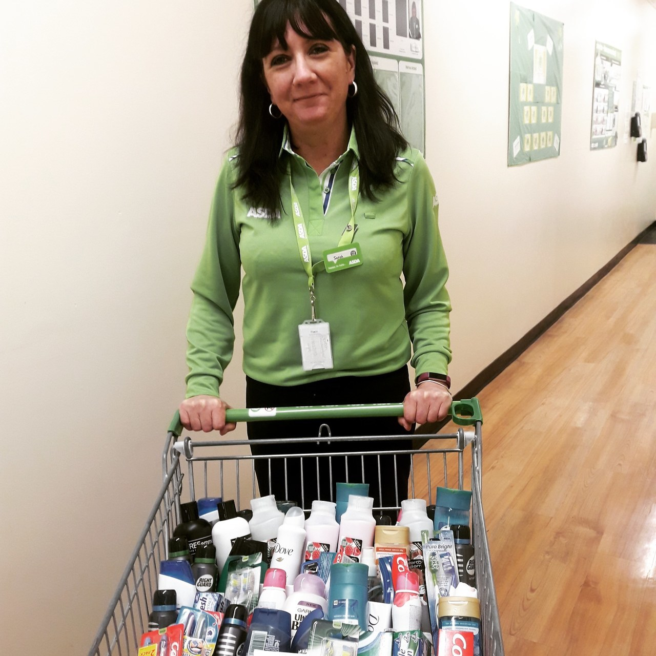 Donating toiletries for Covid 19 hospital ward | Asda Glasshoughton