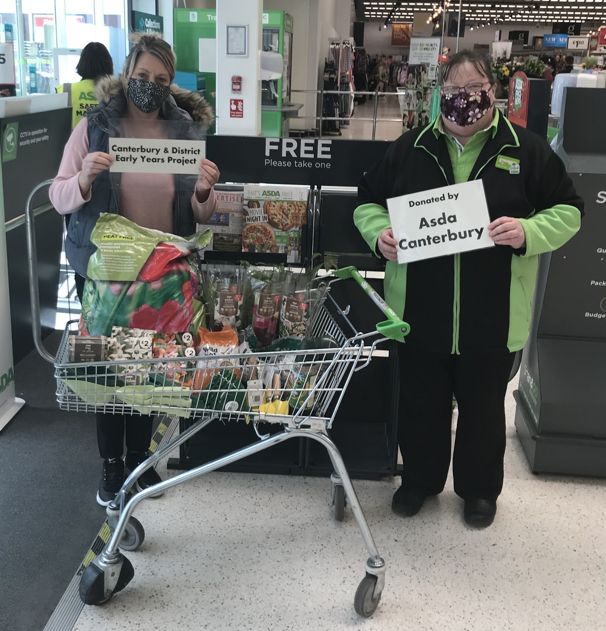 Asda Canterbury supporting local charity readying to welcome back the local community to their community garden. | Asda Canterbury