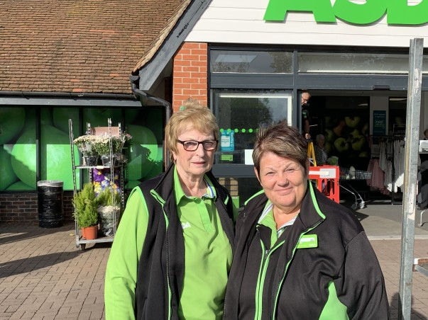 Joan Ferry, here with Sally Cunningham, has worked at Asda South Woodham Ferrers for 40 years