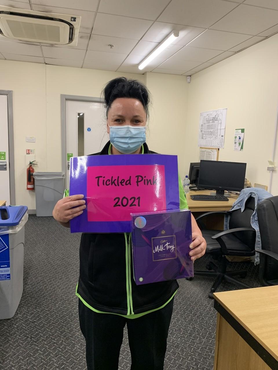 Tickled Pink fundraising   Asda Havant