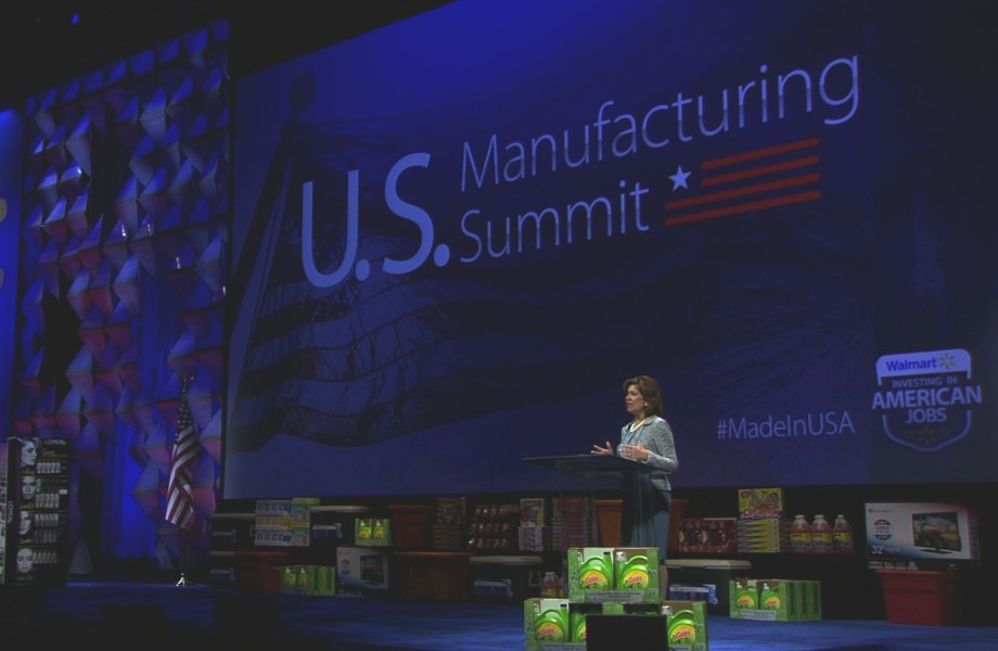 Maria Contreras-Sweet speaks at the 2014 U.S. Manufacturing Summit