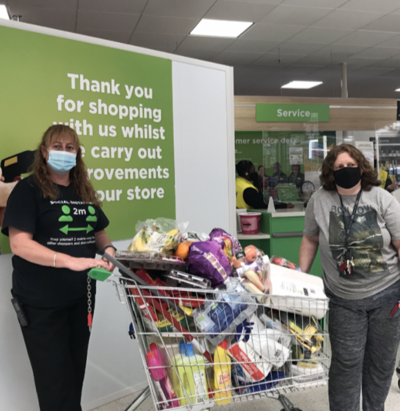 Donation time | Asda Cardiff Bay