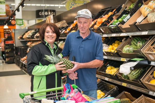 Blind Asda Ballyclare customer Raymond Semple has thanked colleagues at the store for their help