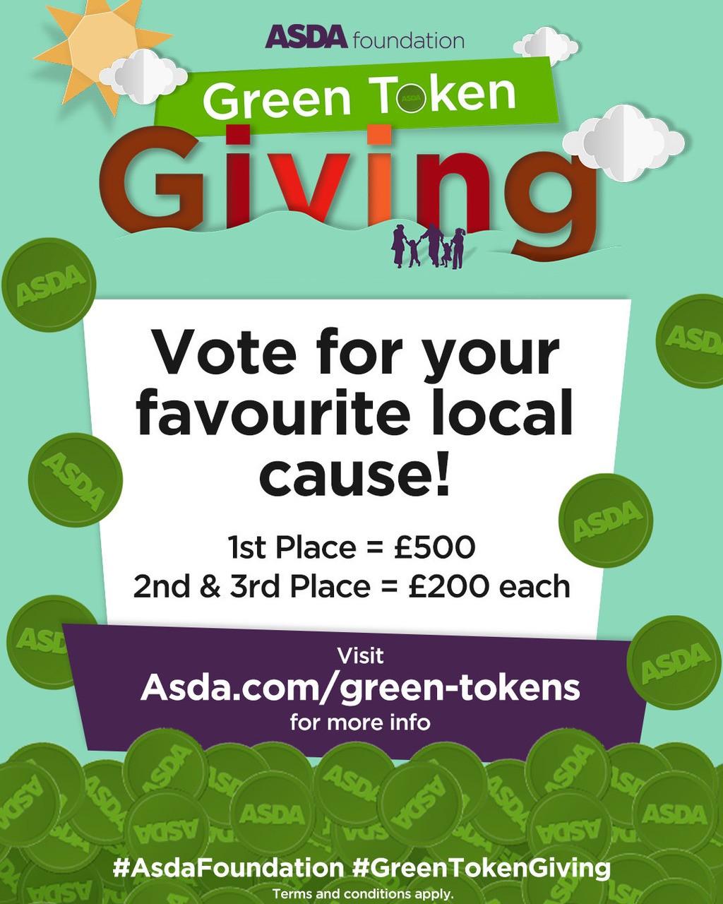 Online digital green token giving live | Asda Wheatley