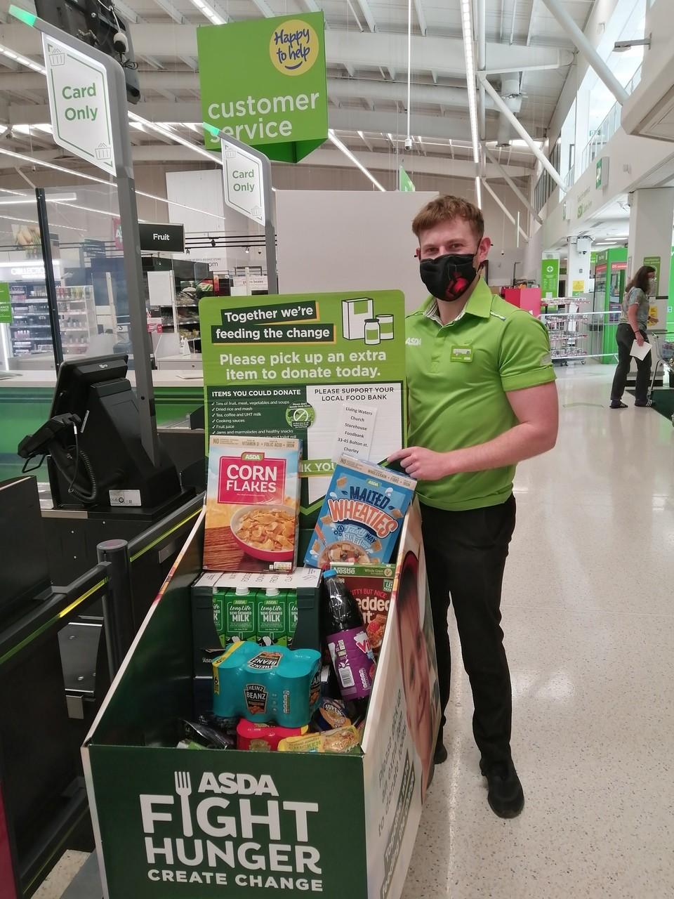 Foodbank support | Asda Clayton Green